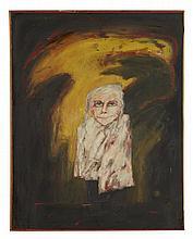 § JOHN BELLANY H.R.S.A., R.A., C.B.E. (SCOTTISH 1942-2013) PORTRAIT OF BELLANY'S GRANDMOTHER 96cm x 76cm (37.75in x 30in)