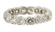 A diamond set full eternity ring Ring size: Q/R, estimated total diamond weight: 2.55cts