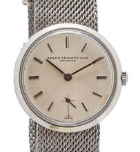 PATEK PHILIPPE - A gentleman's stainless steel cased wrist watch Dial diameter: 29mm