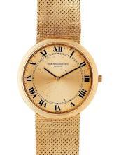 VACHERON CONSTANTIN - A gentleman's 18ct gold wrist watch Dial diameter: 27mm