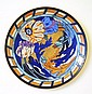 CHARLOTTE RHEAD (1885-1947) FOR WOOD & SONS LARGE EARTHENWARE CHARGER, CIRCA 1910 36cm diameter