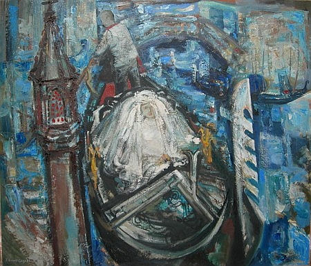 EDWARD GAGE R.S.W. (SCOTTISH 1925-2000) VENETIAN BRIDE 90cm x 106cm (35.5in x 41.75in)