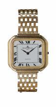 BAUME & MERCIER - A gentleman's 18ct gold wrist watch Dial width: 23mm