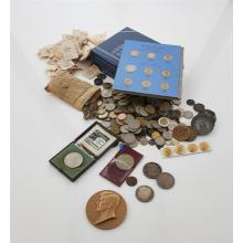 A collection of world coins