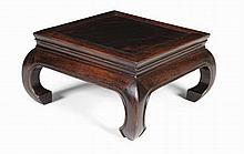 CHINESE HARDWOOD SCHOLAR'S TABLE LATE QING / EARLY REPUBLIC 28cm wide, 15cm high