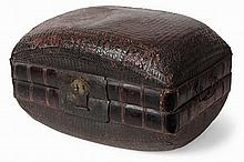 SMALL CHINESE WOVEN BAMBOO TRUNK 19TH CENTURY 32.5cm high, 56cm wide, 39cm deep