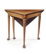 GEORGE III MAHOGANY ENVELOPE TABLE MID/LATE 18TH CENTURY