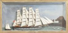 SHIP DIORAMA LATE 19TH/EARLY 20TH CENTURY