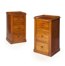 PAIR OF VICTORIAN MAHOGANY NIGHT CUPBOARDS LATE 19TH CENTURY