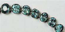 A Zircon set bracelet Length: 19.5cm