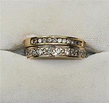 A 9ct gold diamond set eternity ring Ring size: J
