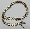 A diamond set bracelet Length: 18cm