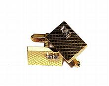 A pair of diamond set cufflinks