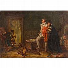 ROBERT ALEXANDER HILLINGFORD (ENGLISH 1828-1904) THE INTRUDER 36cm x 51cm (14in x 20in)