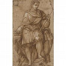 ATTRIBUTED TO ALESSANDRO ALLORI A ROMAN EMPEROR 27.5cm x 17cm (10.75in x 6.75in)