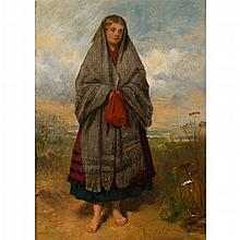 THOMAS FAED R.A., H.R.S.A. (SCOTTISH 1826-1900) HIGHLAND MARY 19cm x 14cm (7.5in x 5.5in)