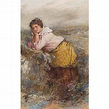 THOMAS FAED R.A., H.R.S.A. (SCOTTISH 1826-1900) NAEBODY'S COMING TO MARRY ME 30.5cm x 19cm (12in x 7.5in)