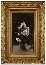 SIR GEORGE REID P.R.S.A., H.R.S.W., L.L.D. (SCOTTISH 1841-1913) WHITE STILL LIFE 51cm x 28cm (20in x 11in)
