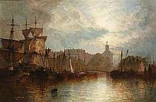 HENRY THOMAS DAWSON (BRITISH 19TH CENTURY) ROTTERDAM 51cm x 76cm (20in x 30in)
