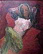 § HENRYK GOTLIB (POLISH 1890-1966) RECLINING FIGURE 90cm x 70cm (35.5in x 27.5in)