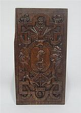 CARVED OAK PANEL 19TH CENTURY 61cm high x 31cm wide