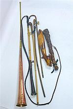 GROUP OF THREE RIDING CROPS 19TH / EARLY 20TH CENTURY