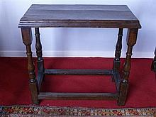 CHARLES II OAK TABLE 17TH CENTURY AND LATER 68cm wide, 63cm high, 34cm deep