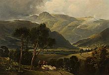 REV JOHN THOMSON OF DUDDINGSTON H.R.S. (SCOTTISH 1778-1840) HIGHLAND LANDSCAPE 63cm x 91cm (25in x 36in)