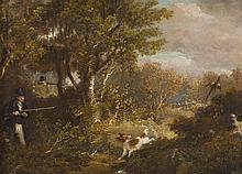 SAMUEL JOHN EGBERT JONES (19TH BRITISH ) PHEASANT SHOOTING 20cm x 28cm (8in x 11in)