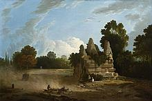 RICHARD WILSON R.A. (WELSH 1714-1782) THE TOMB OF THE HORATII AND CURIATII 49cm x 74cm (19.25in x 29.25in)