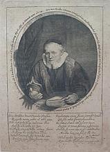 REMBRANDT VAN RIJN (DUTCH 1606-1669) JAN CORNELIS SYLVIUS, PREACHER 29.5cm x 21cm (11.5in x 8.25in) (plate size)