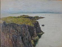 ROBERT WEIR ALLAN (SCOTTISH 1851-1942) ISLAND OF MAY 37cm x 51cm (14.5in x 20in)