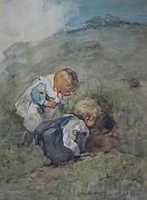 HANNAH CLARKE PRESTON MACGOUN (BRITISH 1864-1913) THE YOUNG EXPLORERS 35cm x 25cm (13.75in x 9.75in)