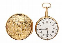 DRAKE LONDON - A pair cased repeater pocket watch Dial diameter: 38mm
