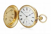 An 18ct gold pocket watch Dial diameter: 43mm