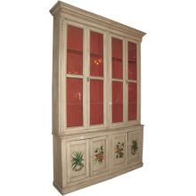 Large 19th c. Country French two-piece painted