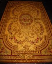 Aubusson tapestry rug. 8' 9