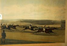 19th c. English Racing Print, The Cambridgeshire Stakes