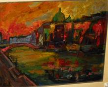 20th c. Italian School, Venice Canal, signed lower