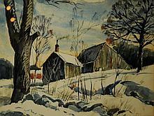 Ruth Van Sickle Ford, Am. 1897-1980, Winter Landscape,