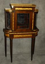 19th c. Louis XVI style bronze mounted mahogany and