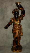 19th c. Venetian carved and polychrome painted