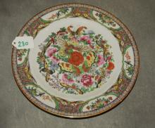 Chinese rose madallion plate. D: 10