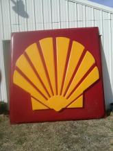 Massive Shell Gasoline Outdoor Sign