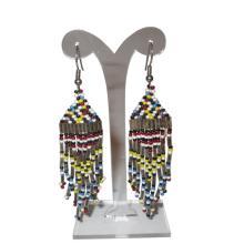 Stunning Vintage Native American Bead Dangle Earrings