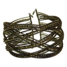 Vintage Bohemian Chic Beaded Wire Wrap Bracelet