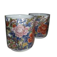 Awesome Pair of Vintage Asian Flower Cups