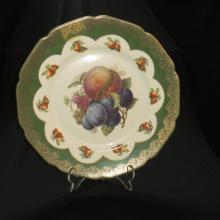 Spectacular Bavarian Fruit Decorative Porcelain Plate