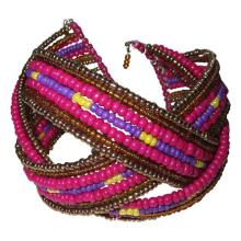 Colorful Native American Inspired Beaded Cuff Bracelet