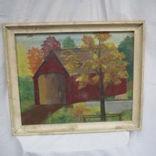 1962 Wood Framed Painting by P.R. Dennis
